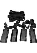 Sex And Mischief Bed Bondage Restraint Kit Black