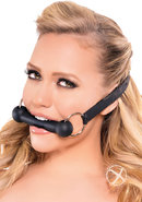 Fetish Fantasy Silicone Bit Mouth Gag Black