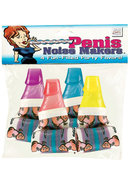 Penis Noise Makers 4 Fun Filled Party Favors Assorted Colors
